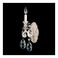 Schonbek Renaissance 1 Light Wall Sconce in Antique Silver and Silver Shade Swarovski Elements Colors Trim 3756-48SH