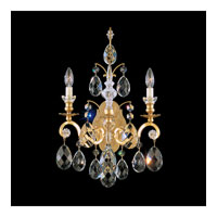 Schonbek Renaissance 2 Light Wall Sconce in Heirloom Gold and Golden Teak Swarovski Elements Colors Trim 3761-22TK