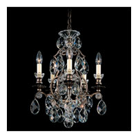 Schonbek Renaissance 5 Light Chandelier in Heirloom Bronze and Silver Shade Swarovski Elements Colors Trim 3769-76SH