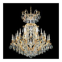 Schonbek Renaissance 25 Light Chandelier in Heirloom Gold and Silver Shade Swarovski Elements Colors Trim 3774-22SH