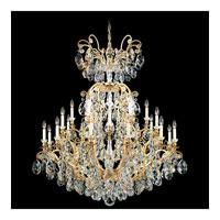 Schonbek Renaissance 25 Light Chandelier in Heirloom Gold and Silver Shade Swarovski Elements Colors Trim 3774-22SH photo thumbnail