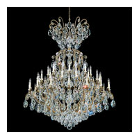Schonbek Renaissance 25 Light Chandelier in Etruscan Gold and Clear Heritage Handcut Trim 3774-23