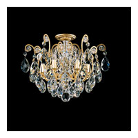 Schonbek Renaissance 6 Light Chandelier in Heirloom Gold and Silver Shade Swarovski Elements Colors Trim 3784-22SH