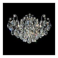 Schonbek Renaissance 8 Light Chandelier in Black and Silver Shade Swarovski Elements Colors Trim 3785-51SH