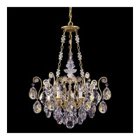 Schonbek Renaissance 6 Light Chandelier in Heirloom Gold and Silver Shade Swarovski Elements Colors Trim 3786-22SH