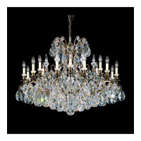 Schonbek Renaissance 19 Light Chandelier in Heirloom Bronze and Silver Shade Swarovski Elements Colors Trim 3792-76SH