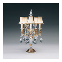 Schonbek Renaissance 5 Light Table Lamp in Heirloom Gold and Clear Heritage Handcut Trim 70015N-22