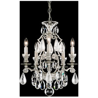 Renaissance 5 Light 15 inch Antique Silver Chandelier Ceiling Light in Clear
