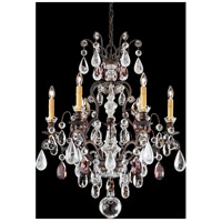 Renaissance 6 Light 24 inch Heirloom Bronze Chandelier Ceiling Light in Amethyst and Black Diamond