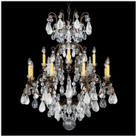 Schonbek 3572-48CL Renaissance Rock Crystal 13 Light Antique Silver Chandelier Ceiling Light in Renaissance Rock Clear