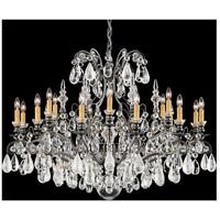 Schonbek 3592-47CL Renaissance Rock Crystal 19 Light 40 inch Antique Pewter Chandelier Ceiling Light in Clear Vintage