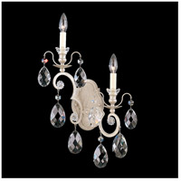 Schonbek 3757-48S Renaissance 2 Light 5 inch Antique Silver Wall Sconce Wall Light in Clear Swarovski