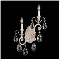 Schonbek 3758-48 Renaissance 2 Light 5 inch Antique Silver Wall Sconce Wall Light in Clear Heritage