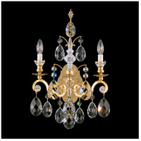 Schonbek 3761-26S Renaissance 2 Light French Gold Wall Sconce Wall Light in Renaissance Swarovski
