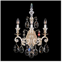 Renaissance 3 Light 8 inch Antique Silver Wall Sconce Wall Light in Clear Heritage