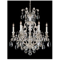 Renaissance 7 Light 24 inch Antique Silver Chandelier Ceiling Light in Clear Heritage