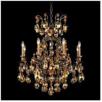 Schonbek 3771-76TK Renaissance 9 Light 27 inch Heirloom Bronze Chandelier Ceiling Light in Renaissance Golden Teak