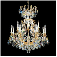 Schonbek 3772-51S Renaissance 13 Light 32 inch Black Chandelier Ceiling Light in Renaissance Swarovski