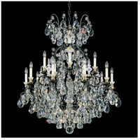 Schonbek 3773-51 Renaissance 16 Light 38 inch Black Chandelier Ceiling Light in Clear Heritage