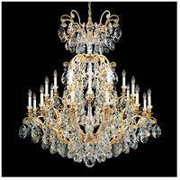 Schonbek 3774-22 Renaissance 25 Light 45 inch Heirloom Gold Chandelier Ceiling Light in Clear Heritage