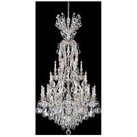 Renaissance 25 Light 36 inch Antique Silver Chandelier Ceiling Light in Clear Heritage