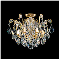 Schonbek 3784-22 Renaissance 6 Light 20 inch Heirloom Gold Flush Mount Ceiling Light in Clear Heritage