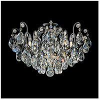 Schonbek 3785-51 Renaissance 8 Light 26 inch Black Flush Mount Ceiling Light in Renaissance Heritage
