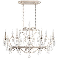 Schonbek 3795N-48H Renaissance 12 Light 46 inch Antique Silver Chandelier Ceiling Light in Clear Heritage