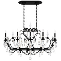 Schonbek 3795N-51H Renaissance 12 Light 46 inch Black Chandelier Ceiling Light in Clear Heritage