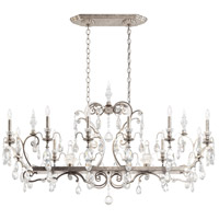 Schonbek 3796N-48H Renaissance 14 Light 56 inch Antique Silver Chandelier Ceiling Light in Clear Heritage