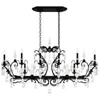 Schonbek 3796N-51H Renaissance 14 Light 56 inch Black Chandelier Ceiling Light in Clear Heritage