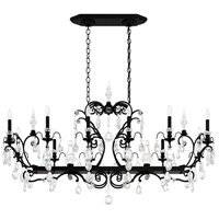 Schonbek 3796N-51S Renaissance 14 Light 56 inch Black Chandelier Ceiling Light in Clear Swarovski