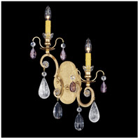Renaissance 2 Light 5 inch Heirloom Gold Wall Sconce Wall Light in Amethyst