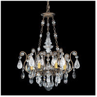 Renaissance 6 Light 22 inch Etruscan Gold Chandelier Ceiling Light in Clear