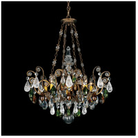 Renaissance 8 Light 27 inch Etruscan Gold Chandelier Ceiling Light in Olivine and Smoke