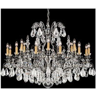 Renaissance 19 Light 40 inch Antique Pewter Chandelier Ceiling Light in Clear