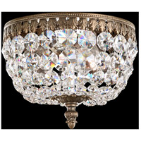 Rialto 3 Light 8 inch Etruscan Gold Flush Mount Ceiling Light in Clear Spectra