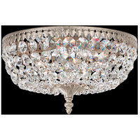 Rialto 5 Light 12 inch Antique Silver Flush Mount Ceiling Light in Clear Spectra