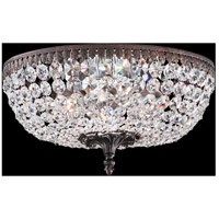 Rialto 6 Light 14 inch Heirloom Bronze Flush Mount Ceiling Light in Clear Spectra