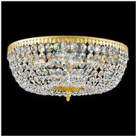 Rialto 8 Light 18 inch Heirloom Gold Flush Mount Ceiling Light in Clear Spectra