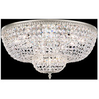 Rialto 14 Light 24 inch Antique Silver Flush Mount Ceiling Light in Clear Spectra