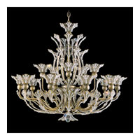 Schonbek Rivendell 16 Light Chandelier in Etruscan Gold and Crystal Swarovski Elements Trim 7864-23S