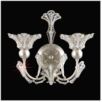 Rivendell 2 Light 6 inch Antique Silver Wall Bracket Wall Light in Clear Swarovski