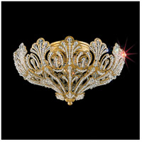 Rivendell 5 Light 14 inch Etruscan Gold Flush Mount Ceiling Light in Clear Swarovski
