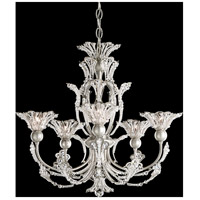 Rivendell 5 Light 21 inch Antique Silver Chandelier Ceiling Light in Clear Spectra