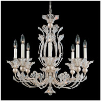 Rivendell 8 Light 26 inch Antique Silver Chandelier Ceiling Light in Clear Swarovski