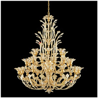 Rivendell 36 Light 42 inch Etruscan Gold Chandelier Ceiling Light in Clear Swarovski