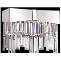 Riviera 2 Light 4 inch Brushed Stainless Steel Wall Bracket Wall Light in Clear Spectra