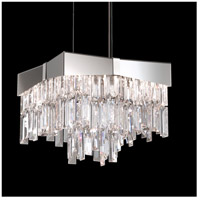 Riviera 4 Light 12 inch Stainless Steel Pendant Ceiling Light in Clear Swarovski