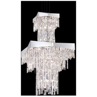 Riviera 24 Light 24 inch Brushed Stainless Steel Foyer Pendant Ceiling Light in Clear Spectra